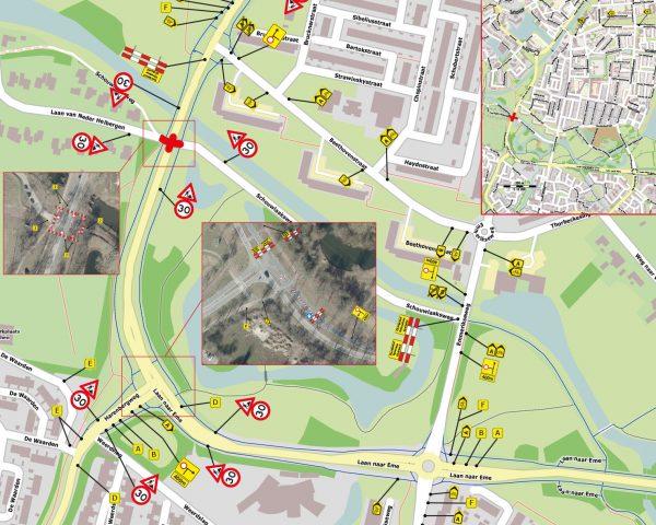 Wegwerkzaamheden kruispunt Laan naar Eme en Laan van Neder Helbergen